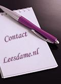 contact met Leesdame