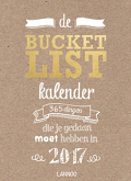 bucketlist kalender cover